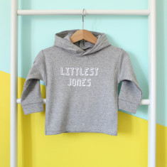 abc3bed0771 Littlest Family Member Personalised Hoody