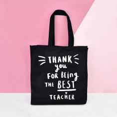 b4c1098db Thanks for being the best teacher tote bag