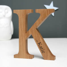 051b2a497bb Personalised Christening Oak Letter