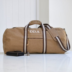 Personalised Canvas Weekender Bag