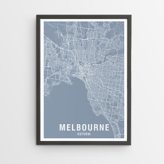 Places maps travel hardtofind melbourne map print various colours gumiabroncs Gallery