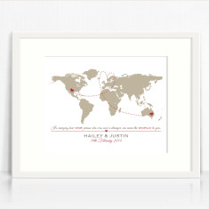 The World Personalised Couples Love Print