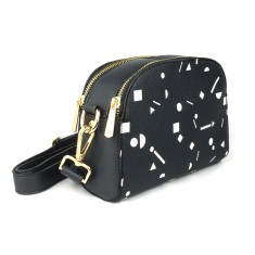 Womens Designer Black Vegan Leather Cross Body Bag 06606c8208