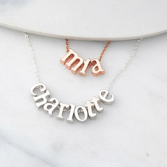 f9cf5fde6 Personalised Dainty Name Necklace in silver or rose gold