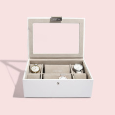 White Classic Watch Box