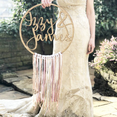 59531b5c Personalised Wedding Boho Fringe Hoop