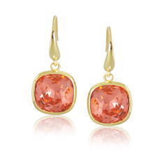 93ffc09e4 Brushed Half Face Drop Earrings. by Lisa Angel. $28.00 $35.00. FREE AU  SHIPPING. Padparadcha & Yellow Gold Vermeil Cushion Drop Earrings