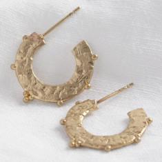 62ee2c82d Small Flat Orb Hoop Earrings In Gold. by Lisa Angel