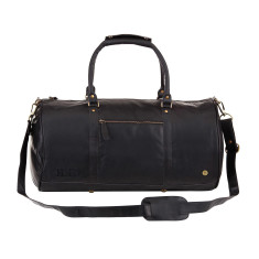 Leather duffle in ebony black. by MAHI Leather 92fee75180d56