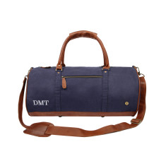 The Gym Duffle Navy Canvas