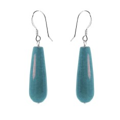 f1554ab9a Blue jade briolette drop earrings