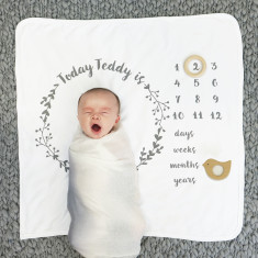 Baby gifts baby shower gift ideas baby shower gifts hardtofind personalised baby age botanical blanket negle Choice Image