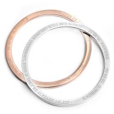 Personalised jewellery handmade jewellery custom jewellery custom engraved kadence bangle bracelet in silver or rose gold finish aloadofball Images