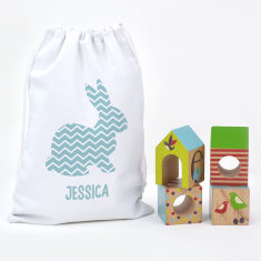 Easter gift ideas hardtofind personalised bunny easter egg hunt bag negle Gallery