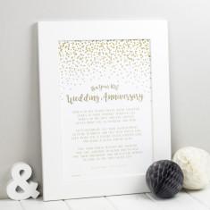 wedding anniversary prints anniversary gift - 25th Wedding Anniversary Gifts