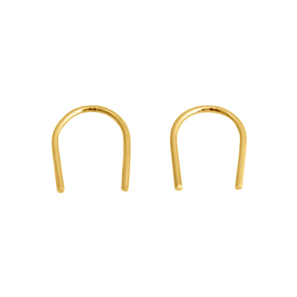 u earrings gold