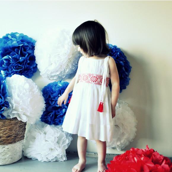Claudia Dress Wh/R