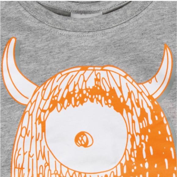 Orange monster print