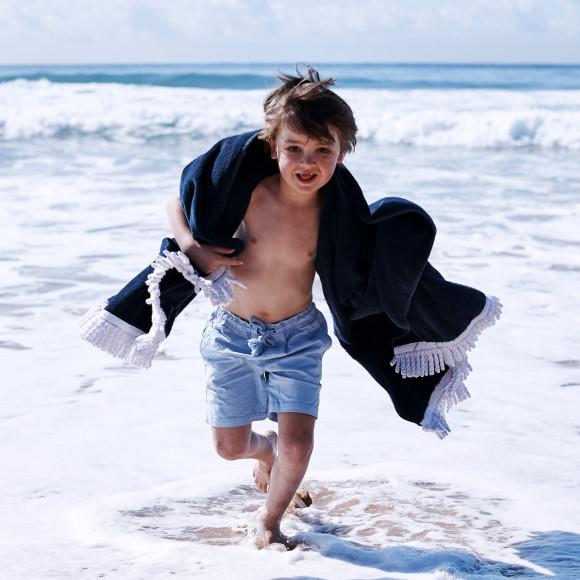 Beach Towel in Navy