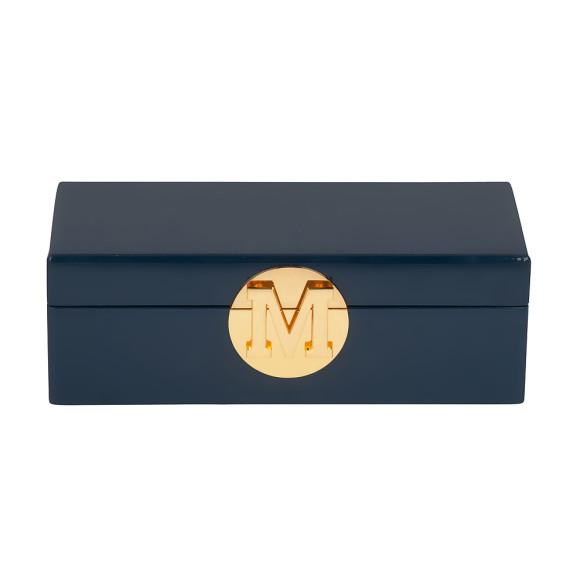 Navy Jewellery Box