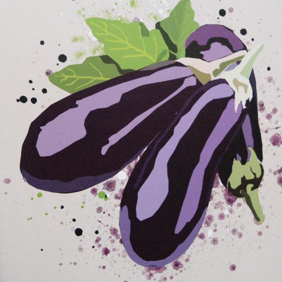 Eggplant print 2