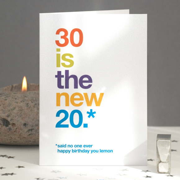 Funny 30 Is The New 20 Birthday Card Hardtofind