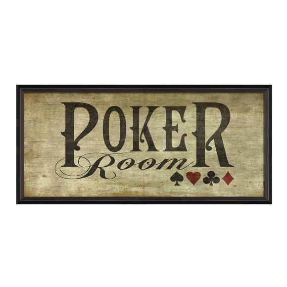 Poker room print