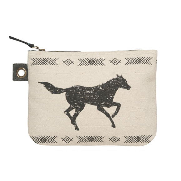 Saddle Up Zipper Pouch Large