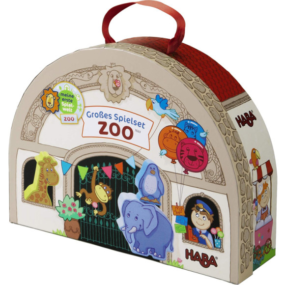wooden play set zoo