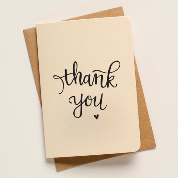 An april idea thank you script greeting card pack of 5 hardtofind m4hsunfo