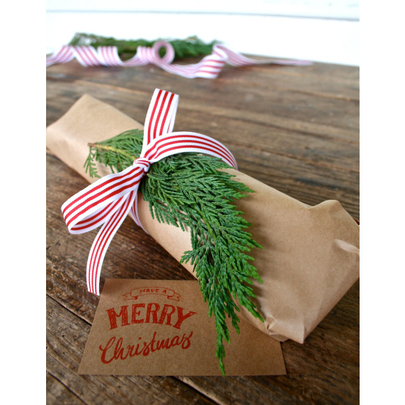 Festive giftwrap