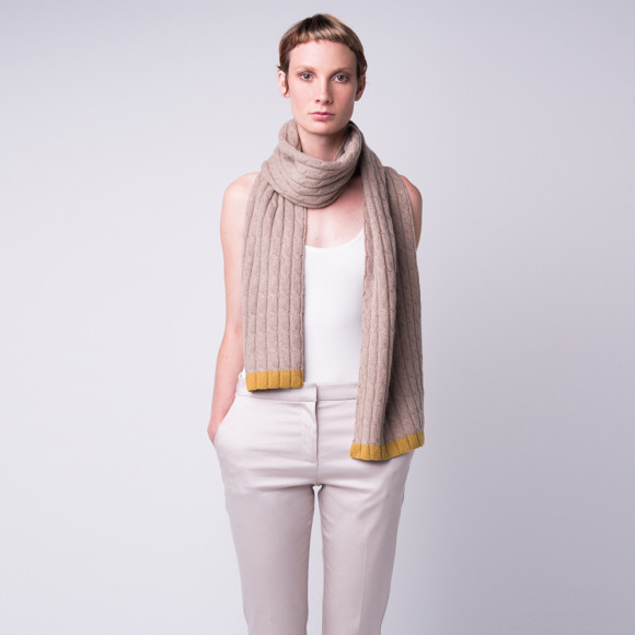 cashmere cable knit