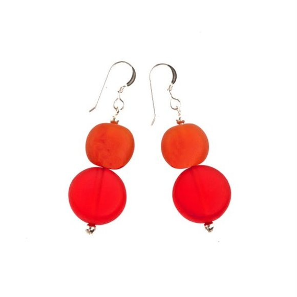 Transparent Red & Orange