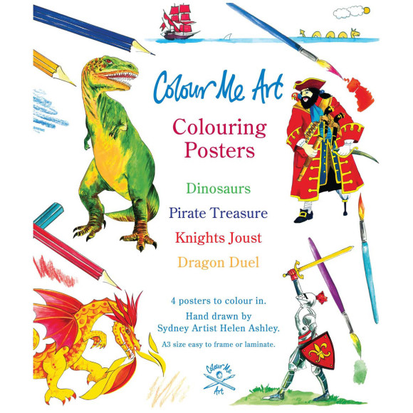 Pirates, Dinosaurs and Dragons to colour!