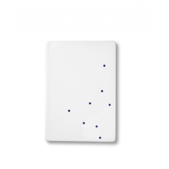 Ruth M small Dot tile plate in blue