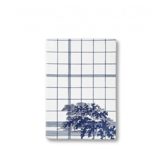 Ruth M Squares design plate in blue