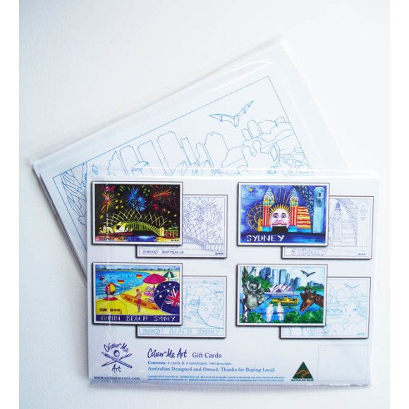 4 Cards With Envelopes to Colour and Send