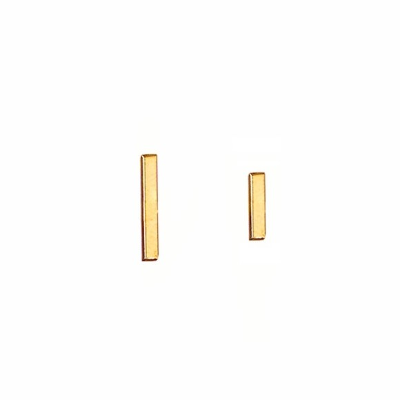 Mismatched Bar Studs Earrings Gold