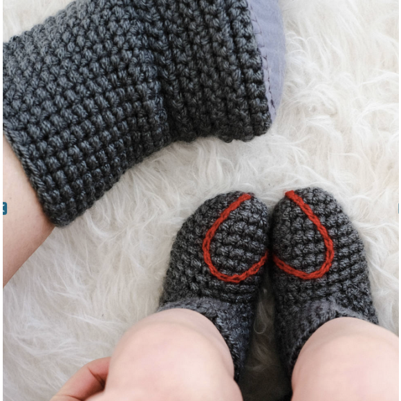 Mummy and Me Heart Socks