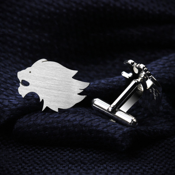 Lion cufflinks sterling silver