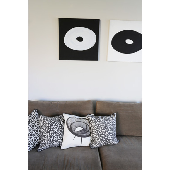 Our monochromatic range looks spot on with Artist Peter Mogg's Diptych