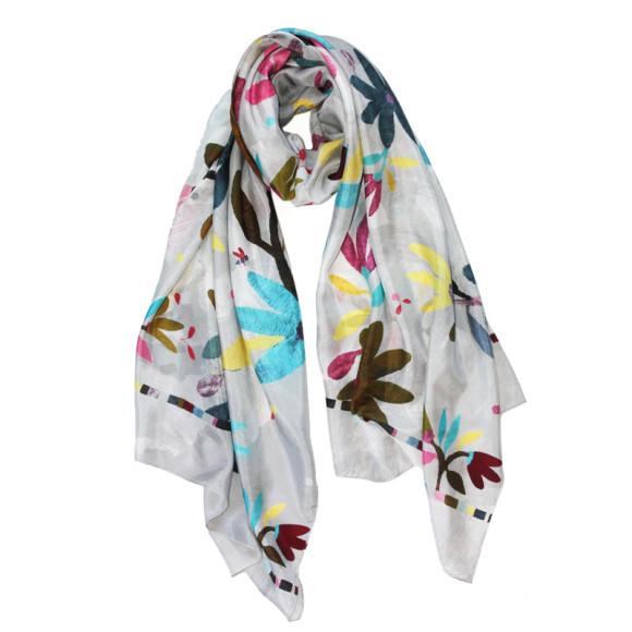 Abeja silk scarf