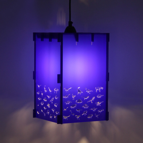 Joy blue dinosaur lamp shade in acrylic hardtofind blue dinosaur lamp shade in acrylic at night mozeypictures Image collections