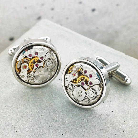 Vintage Round Watch Movement Cufflinks