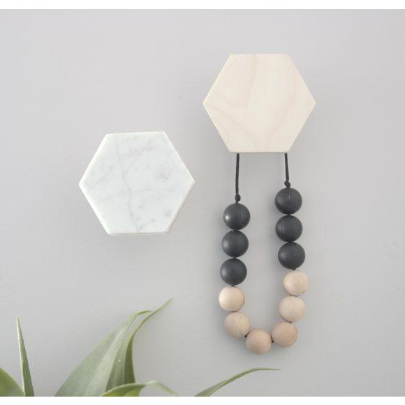 modern wall hooks | CB2 |Marble Wall Hooks