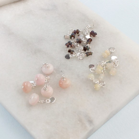opal gemstone clusters for october