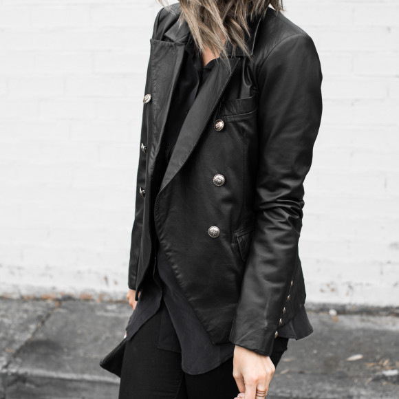2NDSKIN Billie Leather Blazer