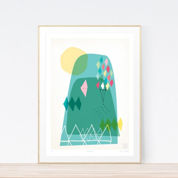 Harlequin Art Print (Framed)