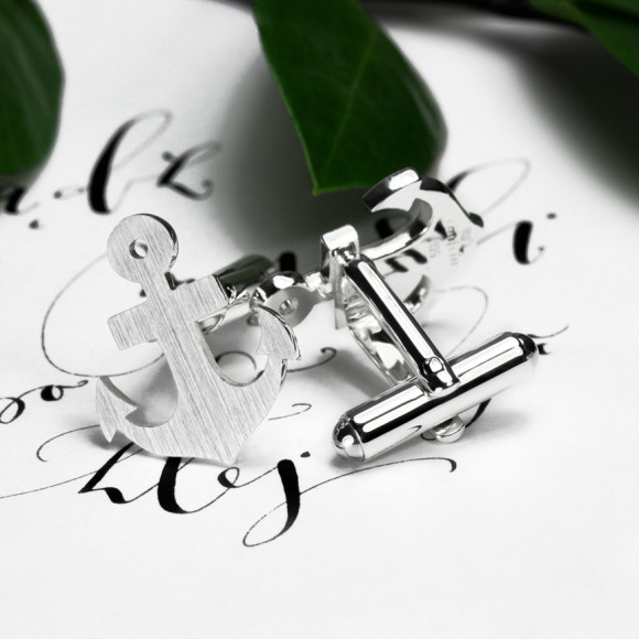 Anchor cufflinks handcrafted