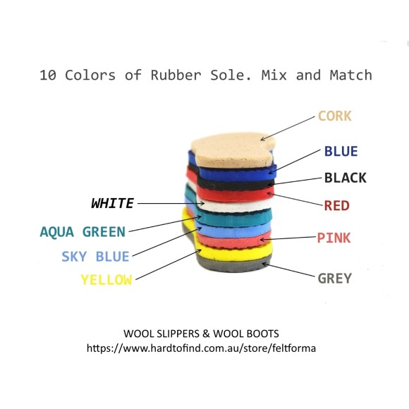 Rubber soles colors